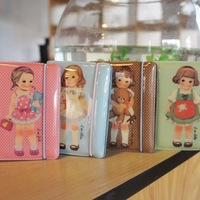 Korean style Paper doll mate Rubber band 24 card ID holders card sets/card holders  (12Pcs/lot) Free shipping