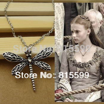 New style dragonfly for pendant the Game of Thrones Movie jewelry valentine's gift