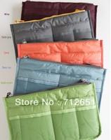 100pcs/lot  9Colors Promotions Lady's organizer bag handbag organizer travel bag organizer insert with pockets storage bags