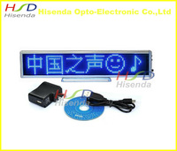 Blue LED scrolling sign message display board desk desktop panel /advertising/ programmable / support most Euro languages