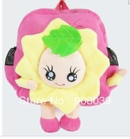 free shipping sale lovely sunflower Plush toy cartoon small school bag  Kindergarten child backpack
