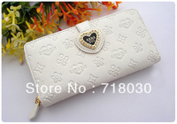 2013HOT New arrival Free Shipping New Style PU  Women Purse Wallet Fashion Purse For Women Free shipping