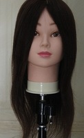 """18"""" Natural Black Professional High Quality 100% Human Remy Hair Practice Head Mannequin Head Training Head"""