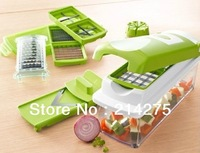 free shipping 24 pcs Vegetable Fruit Nicer Dicer Slicer Cutter Plus Container Chopper Peeler