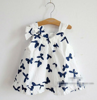 D0320*2013 Fashion Kids Butterfly Dress Children Baby Girl Dress 5 Pcs/Lot