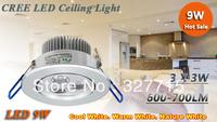 FREE SHIPPING !! New Arrival led light 9W Led Fixture Ceiling Downlight bulb 110-240V High Quality Led Down lamp lighting 5pcs