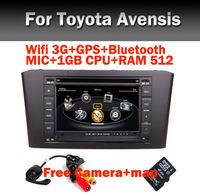 Car DVD GPS Navi Radio for Toyota Avensis with GPS Radio TV Bluetooth USB SD IPOD Steering wheel control+Free Shipping