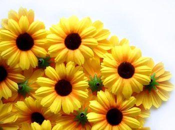 100  Daisy Heads Artificial Silk Flower  10color  1.75''