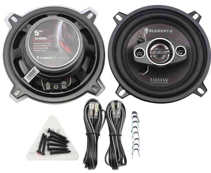 5 inch coaxial speakers 100W car audio speaker 5inch injection cone woofer 30mm Mylar Dome Tweeter and 2*15mm Piezo Tweeter(China (Mainland))