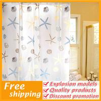 wholesale waterproof mildew PEVA starfish shower curtain bathroom Bucharest thick essential