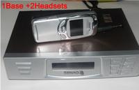 DHL FREE SENAO SN 629 handheld cordless telephone sn629 1 base support 9 extra handset Duplex Intercom<A set of 1Base+2Headsets>
