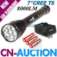 FS! Trustfire TR-J18 LED Flashlight 8000 LM 7xCREE XM-L T6 Adjustable Length LED Torch+3x18650 Battery+1X18650 Charger (CN-J18)
