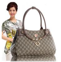 Fashion European American Plaid Print Women Hanbag Middle Age Woman Messenger Bag Mother Bags
