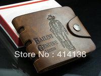 Cowhide wallet male genuine leather wallet male short design wallet card holder wallet