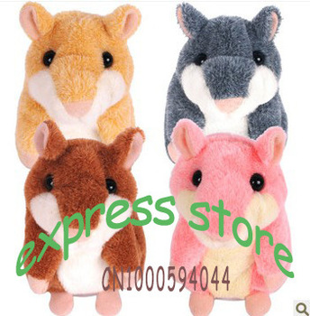 Lovely Talking Hamster Plush Toy Hot Cute Speak Talking Sound Record Hamster  toys supply Drop Shipping free ship by HK post