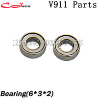 Free shipping+Wholesale WL V911 V911-1 V911-2 spare parts bearing (6*3*2) 1 lot=5 sets for WL V911 2.4G 4CH RC Helicopter