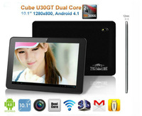 "Free shipping! 1280x800 Cube U30GT 10"" android 4.1 tablet pc RK3066 Dual Core 1.6GHz Bluetooth HDMI Dual camera WIFI 3G"