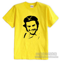 Red 100% cotton loose plus size available yellow t-shirt summer Men male short-sleeve o-neck t-shirt
