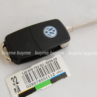 Freeshipping 4pcs/lot 14mm Remote Key Fob Logo Badge Emblem For Volkswagen VW Jetta Golf Passat