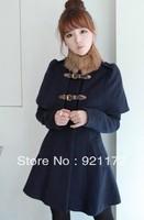 sweet high waist slim stand collar fur collar woolen outerwear wool coat Women's Clothing Coats  Jackets Wool Blends OT1332602