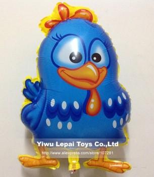 50pcs/lots , wholesales Galinha pintadinha mylar balloon , Chicken cartoon balloon