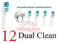 12 PCS Neutral Package For Dual Clean SB417A soft bristle  electric toothbrush Heads Sensitive Floss Action Pro white