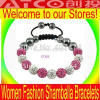 wholesale shamballa 10MM crystal disco ball woven the Shambhala bracelets Top quality free shipping Shambala bracelets 20pcs/lot