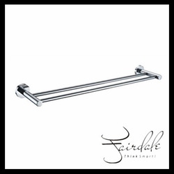 Wholesale High Quality Brass Chrome Finish Double Bath Towel rack/ Towel Holder Bathroom Accessories(China (Mainland))