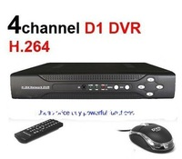 free shipping! hot 4 CH H.264 CCTV Network DVR Real-time Full D1 DVR With mobile phone Surveillance support Russian Language