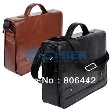 2013 High Quality Men's Leather Shoulder Messenger Business Briefcase Bag Handbag 2Colors  9389(China (Mainland))