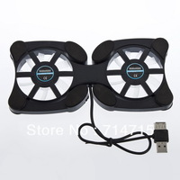 1Pcs Mini Octopus USB Cooler Cooling Pad 2 Fan for Notebook Laptop Drop Shipping