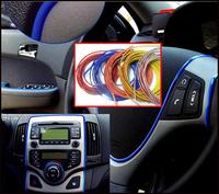 Wholesale 5 Meters 10pcs FLEXIBLE TRIM FOR CAR INTERIOR EXTERIOR MOULDING STRIP DECORATIVE LINE 9color ,10pcs/lot