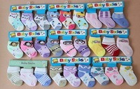 BB02 12pairs/lot Promotion HIGH QUALITY baby socks girl children cotton sock suitable for 7-10cm feet