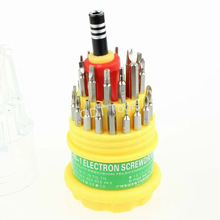 Free Shipping (50 sets/lot) 31 in 1 Screwdriver Set HQ Tools Repair Open Cell Phone PC Notebook Jackly 6036 A