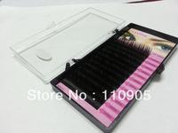 Free shipping 4x 0.15 Thickness C Curve 8mm 10mm 12mm 14mm China Silk Hand made False Fashion Eyelash Extension 12lines/set
