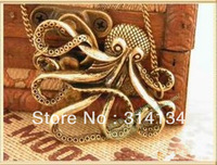 Min.order is $10 (mix order)Europe and America popular octopus Paul Necklace jewelry wholesale