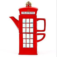 Multifunction  Coffee cup glass pot telephone booth cup set british style lucency ujuicer