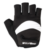WOLFBIKE New Fashion Cool Breathable Durable Outdoor Half Finger Cycling gloves Bike Bicycle Sports Glove Short mittens