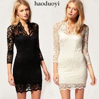 wholesale womens clothing free shipping lace bandeau club dresses women fashion slim waist sexy beautiful V-neck one-piece dress