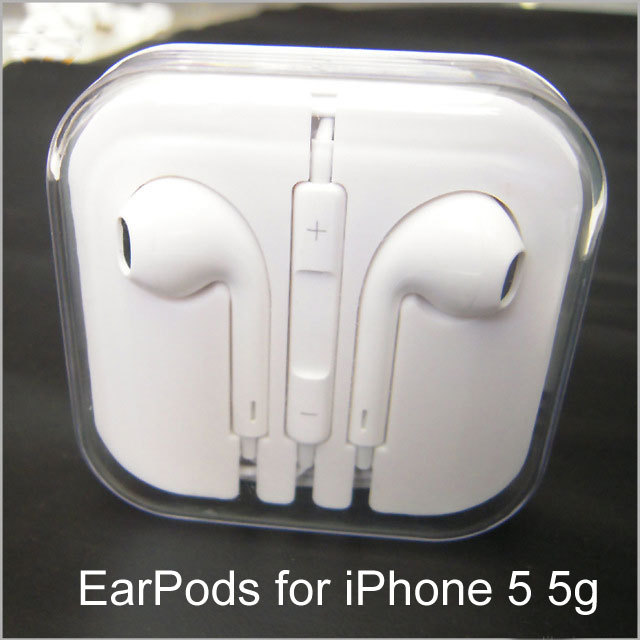 Non-profit sales! New Newest like Original EarPods Earphone With Remote & Mic For Apple IPhone 5 5G Retail box Free Shipping(China (Mainland))