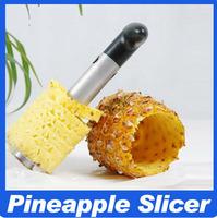 Wholesale Pineapple Slicers 1pcs Stainless Steel Fruit Pineapple Corer Slicers Peeler Parer Cutter Kitchen Easy Tool [0000103]