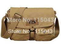 Wholesale 100% Cotton Canvas Shoulder Handbags Casual Man Messenger Bag Men Outdoor Single Shoulder Briefcase + Free Shipping