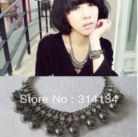Min.order is $10 (mix order)lazy black ball package water drop necklace jewelry wholesale