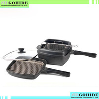 H5 Super Quality magic cube pot cubic zircon stone totipotent multi-purpose pot wok steamer frying pan total 6piece/set F.ship