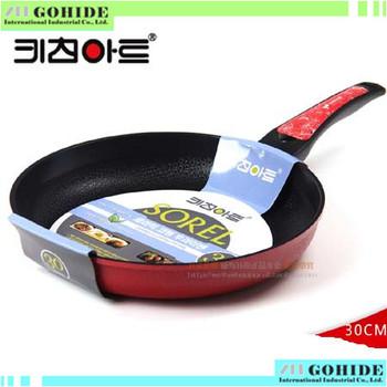 Original Brand New Non-stick none smoker Ceramic woks 30cm pamphleteers diamond marble smokeless frying pan woks