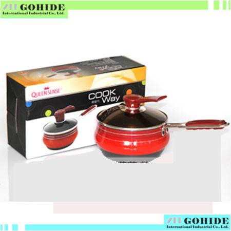 South Korea import kitchen supplies cookware single handle soup pot milk pot 18cm titanium non-stick surface with free shipping(China (Mainland))