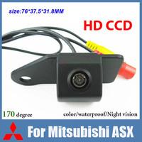 Free shipping HD CCD Car rear view camera for Mitsubishi ASX color waterproof 170 degree night vision car parking camera