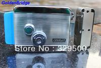 Metal nickel plating electronic control door lock with double lock heads GB-799