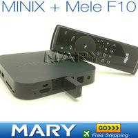 Free shipping 100% original MINIX NEO X5 wifi android 4,1 Dual Core Cortex A9 bluetooth smart tv box + Mele F10 fly mouse