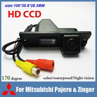 Free shipping CCD Car rear view camera for Mitsubishi Pajero Zinger color waterproof 170 degree night vision car parking camera